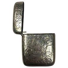 Vintage Sterling Silver Vesta Matchbox