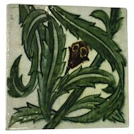 Antique Lustre Ware Tile by De Morgan