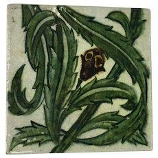 Antique Lustre Ware Tile by De Morgan