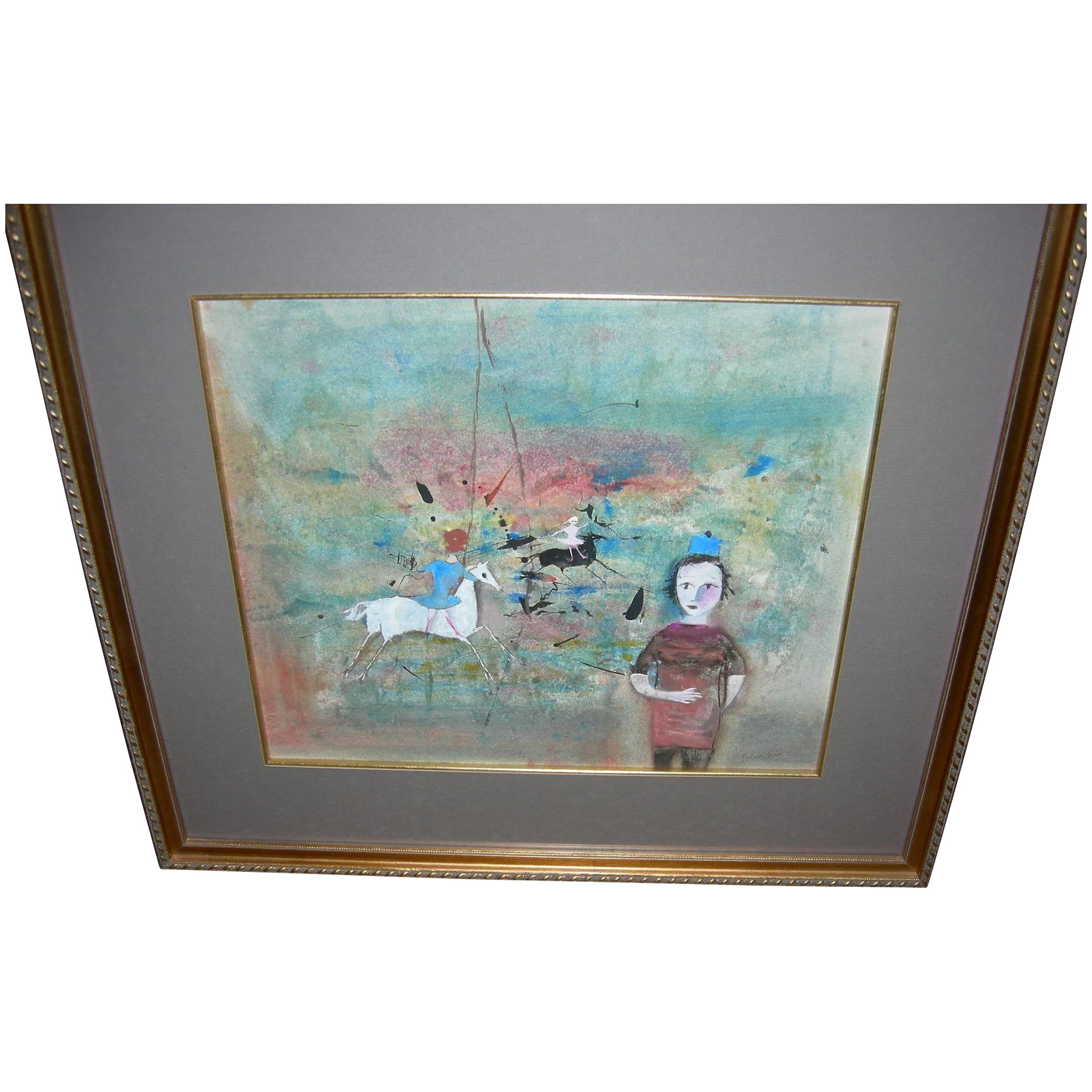 Rare Painting By Polia Pillin The Antique Gallery Pa