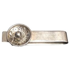 William Spratling Sombrero Money Clip and Tie Bar