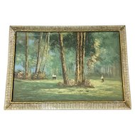 The Park on Monza Painting