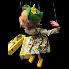"Pelham Puppets Model SS2 ""Mitzi"" With Original Box and Instructions"