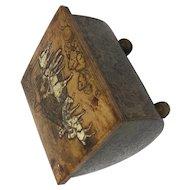 Antique Austrian Wooden Victorian Puzzle Casket Box c. 1800's