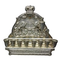 Eastern European Sterling Silver Menorah