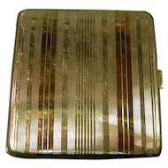 Sterling & Gold Card Cigarette Case