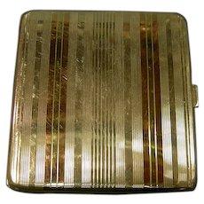 Sterling & Gold Card Cigarette Case