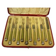 English Sheffield Fruit Set by Hawksley