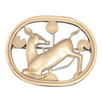 Georg Jensen Sterling Deer Pin
