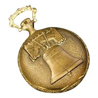 Liberty Bell Pocket Watch with Bailey Banks Biddle 17 Jewels Watch