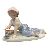 "Lladro Figurine 07619 ""All Aboard"" in Original Box"