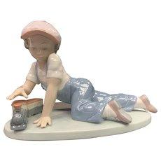 """Lladro Figurine 07619 """"All Aboard"""" in Original Box"""