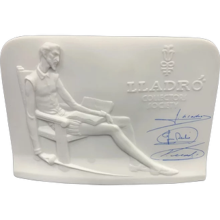 Lladro Collector's Society Plaque 1985: Signed in Blue (3 Signatures)