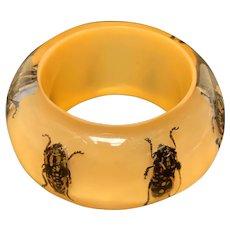 Lucite Bug Bracelet