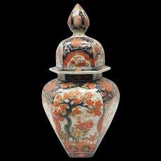 19th Century Japanese Imari Ceramic Covered Vase