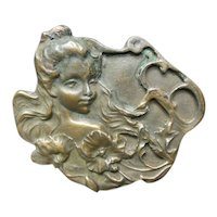 Art Nouveau Bronze Belt Buckle