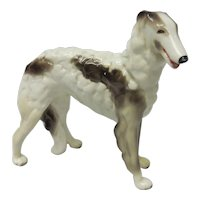 Goldscheider USA Streaked White Borzoi Dog Porcelain Figurine