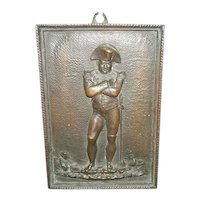 Bronze Plaque of Napoleon