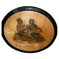 Black Memorabilia Cribbage Plaque