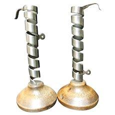 French Iron Spiral Candlesticks