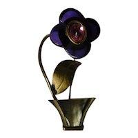Fabrice Paris Designer Flowerpot Pin