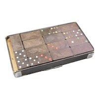 Original Wooden Monarch Dominoes Kolor Dot in Box by The Embossing Company