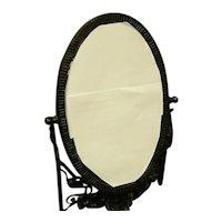 French Art Nouveau Wrought Iron Vanity Mirror