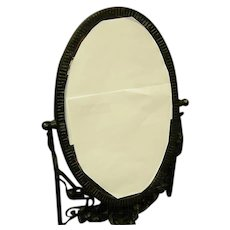 French Art Nouveau Wrought Iron Vanity Mirror