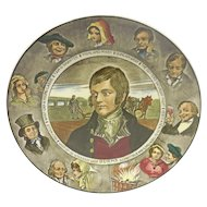 Vintage Royal Doulton Porcelain Literary Portrait Plate – Robert Burns