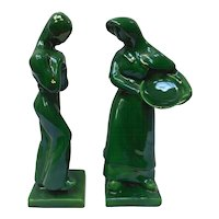 "Pair of ""Harvest"" Royal Haeger Ceramic Sculptures by Hickman"