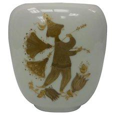 Signed Bjorn Wiinblad Studio Line Rosenthal Decorative Vase – Quatre Coleurs