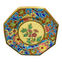 French pottery plate by Longwy