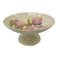 English Moorcroft Art Pottery Magnolia on Beige Tazza