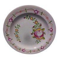 English King's Rose Creamware Dish