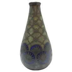 Quimper Odetta French Vase Signed By Quillivic