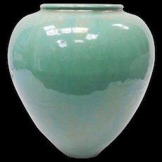 c. 1920 Rare Turqouise Neoclassical Garden Terra Cotta Galloway Pottery Vase