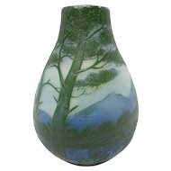 Miniature French Cameo Glass Vase by De Vez