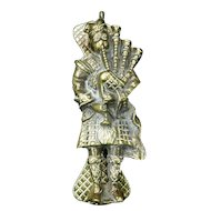 Brass Scottish Bagpiper Door Knocker