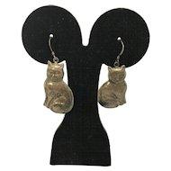 Sterling Silver Cat Earrings