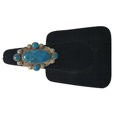 Turquoise Navajo Style Silver Ring