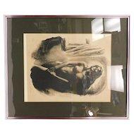 "Sandu Liberman Lithograph: ""Nude"""