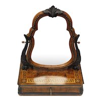 Antique Dressing Table Mirror & Drawer