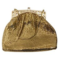 Vintage Gold Mesh Purse by Whiting & Davis Co.