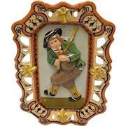 Quimper Art Pottery Plaque