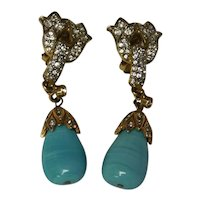 Kenneth Jay Lane (K.J.L.) Designer Costume Earrings