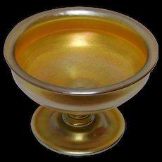 Tiffany Favrile Gold Iridescent Compote