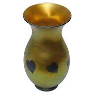 Tiffany Favrile Gold Iridescent Millefiori Vase
