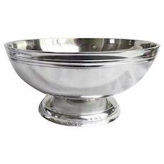 """Pewter Footed Bowl 9"""" diameter John Somers"""