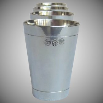 "Pewter Shot Glasses 2.5"" tall (set of 4)"