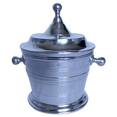 """Pewter Ice Bucket with lid, 9"""" tall"""